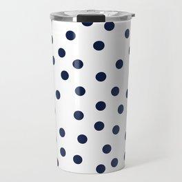 Simply Dots in Nautical Navy Travel Mug
