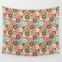 donuts Wall Tapestries featuring Donuts by Beesants