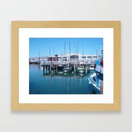 boats in color Framed Art Print