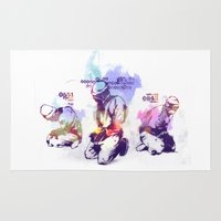 new order Area & Throw Rugs featuring NEW ORDER by Ƃuıuǝddɐɥ-sı-plɹoʍ-ɹǝɥʇouɐ