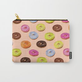 Glazed watercolor donuts on pink Carry-All Pouch