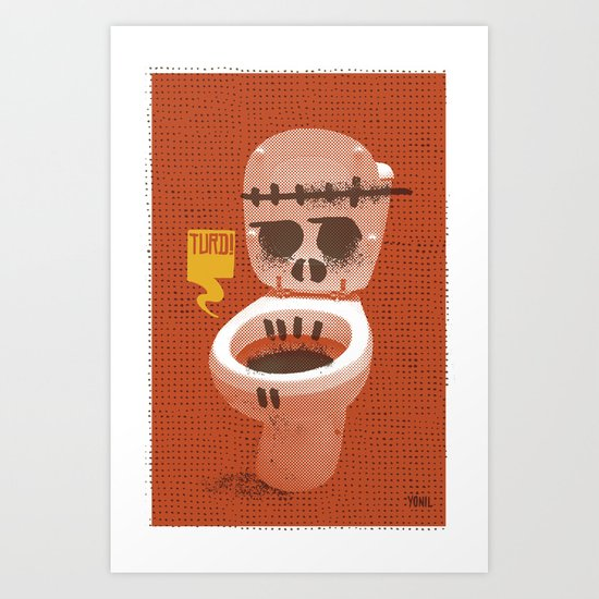 Toilet Bowl Art Print