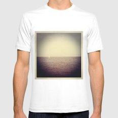 Sea Dreams White MEDIUM Mens Fitted Tee