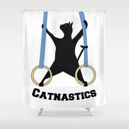 Catnastics Rings Shower Curtain