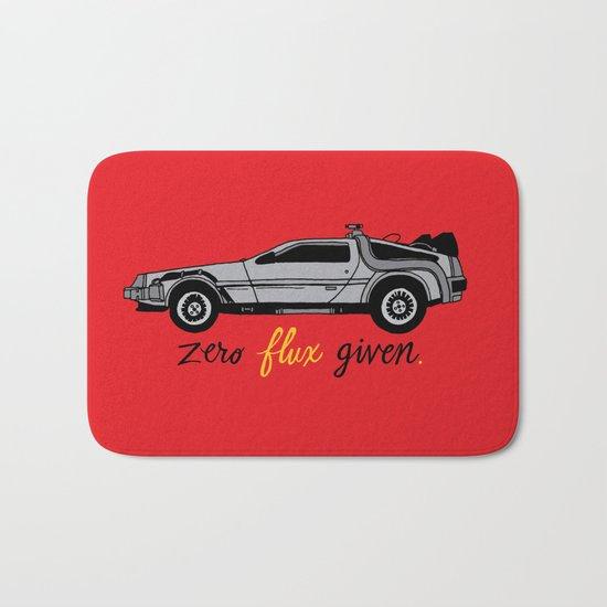 Zero Flux Given. Bath Mat