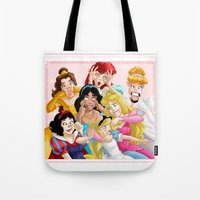 duck Tote Bags featuring Smile for the Camera by Brianna