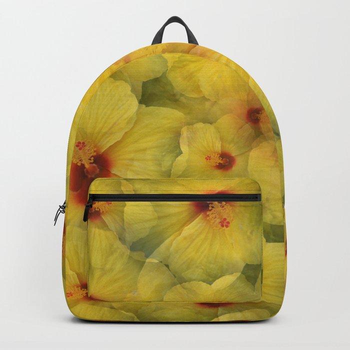 Yellow Hibiscus Backpack