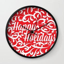 Holiday Swirl Wall Clock