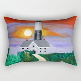 Fire Island Lighthouse Rectangular Pillow