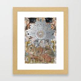 Mirror,Rabbit,Vase Framed Art Print