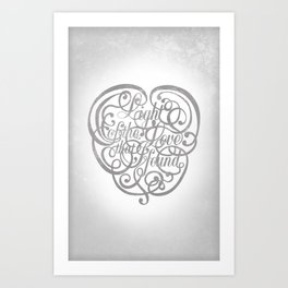 Light of the Love Art Print
