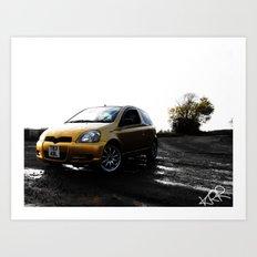Toyota Yaris Art Print