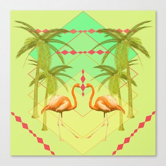 go flamingo, go ! Canvas Print