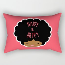 Nappy and Happy Afro Hair Rectangular Pillow