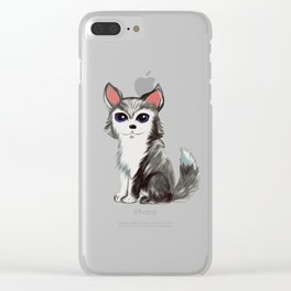 Husky Dog Clear iPhone Case