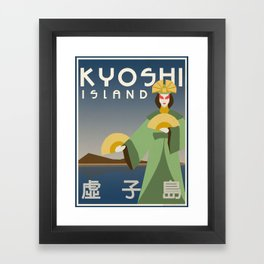 Kyoshi Island Travel Poster Framed Art Print