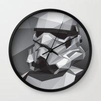 stormtrooper Wall Clocks featuring Stormtrooper by Filip Peraić