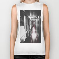 train Biker Tanks featuring Train by Lama BOO