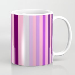 pink and blue stripe modern pattern Coffee Mug