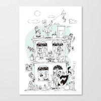 the neighbourhood Canvas Prints featuring Neighbourhood by neicosta