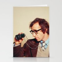 woody allen Stationery Cards featuring WOODY ALLEN by VAGABOND