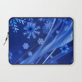 Blue Snowflakes Winter Laptop Sleeve