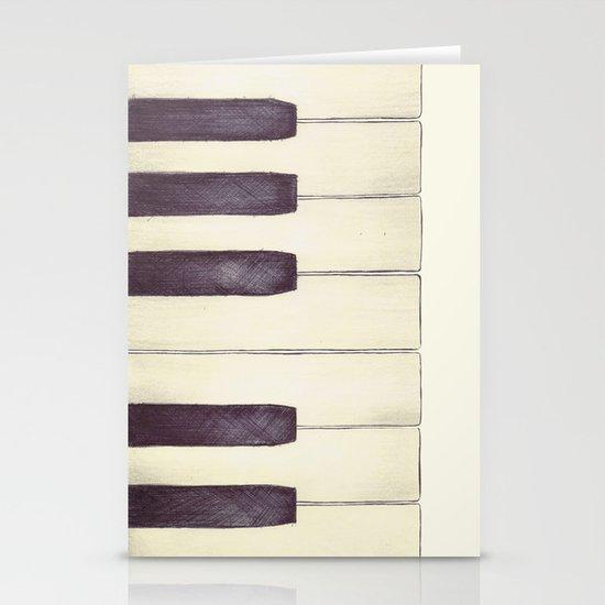 Ebony and Ivory Stationery Cards