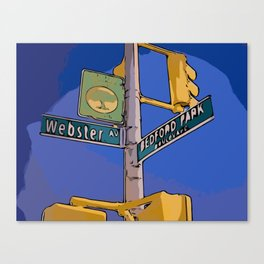 Webster Avenue and Bedford Park Boulevard - Bronx, NY Canvas Print