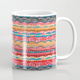 Bohemian indian Style design in red Coffee Mug