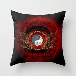 The sign ying and yang Throw Pillow