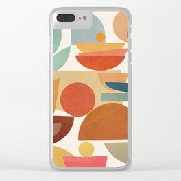 Modern Abstract Art 78 Clear iPhone Case