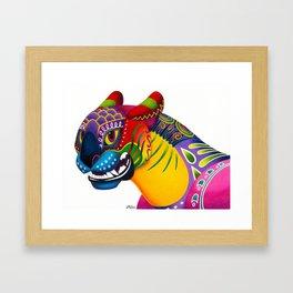 Oaxacan Big Cat Mini-Bust Framed Art Print