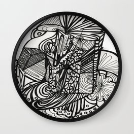 Pilar of Zentangle Wall Clock