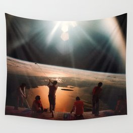Golfers In Space Wall Tapestry