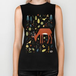 Deer and Forest Things Biker Tank