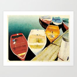 Rockport, MA Dories Art Print