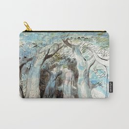 """William Blake """"Illustrations to Dante's Divine Comedy - Dante and Virgil Penetrating the Forest"""" Carry-All Pouch"""