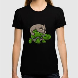 Sloth turtle sleeping Tired funny gift T-shirt