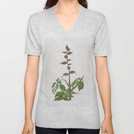 Vintage walnut bough Unisex V-Neck