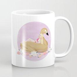 Summer Pool Party - Gold Swan Float F Coffee Mug