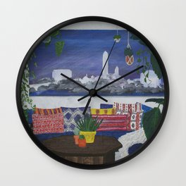 District Nights - Urban Jungle Wall Clock