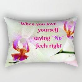 """""""No"""" Feels right Rectangular Pillow"""