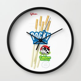Pocky Packaging - Milk Flavour Wall Clock