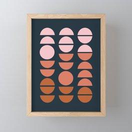 Modern Desert Color Shapes Framed Mini Art Print