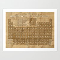 periodic table Art Prints featuring periodic table of elements by Bekim ART