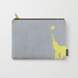 Elephant with Balloon - Lemon Carry-All Pouch