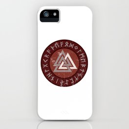 Valknut | Viking Warrior Symbol Triangle iPhone Case