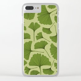 GINKGO LEAF Clear iPhone Case