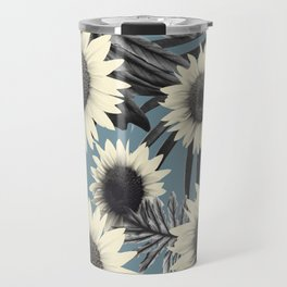 Tropical Sunflower Jungle Leaves Pattern #2 #tropical #decor #art #society6 Travel Mug