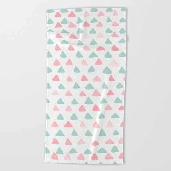 pastel triangles 2 Beach Towel